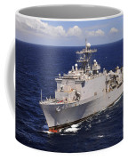 Uss Comstock Transits The Indian Ocean Coffee Mug