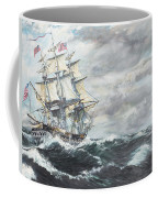 Uss Constitution Heads For Hm Frigate Guerriere Coffee Mug