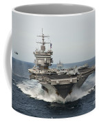 Uss Enterprise Transits The Atlantic Coffee Mug by Stocktrek Images