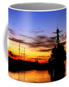 Uss Spruance Is Pierside At Naval Coffee Mug