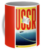 Ussr Vintage Cruise Travel Poster Restored Coffee Mug