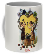 Valentines Day Card, 1900 Coffee Mug