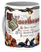 Valentines Day Card, 1910 Coffee Mug