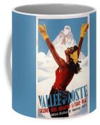 Vallee D'aoste - Aosta Valley, Italy - Retro Travel Poster - Vintage Poster Coffee Mug
