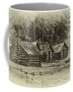 Valley Forge Barracks In Sepia Coffee Mug
