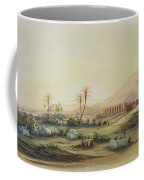 Valley Of The Nile With The Ruins Of The Temple Of Seti I Coffee Mug by Prosper Georges Antoine Marilhat