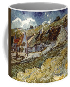 Van Gogh: Cottages, 1890 Coffee Mug