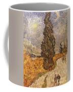 Van Gogh: Cypresses, 1889 Coffee Mug