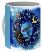 Van Gogh's Starry Night Wreath Coffee Mug