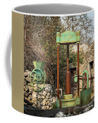 Various Old Rusty Vintage Agricultural Devices In Croatia Coffee Mug
