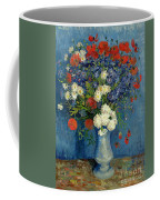 Vase With Cornflowers And Poppies Coffee Mug