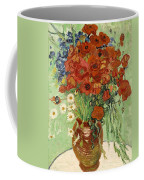 Vase With Daisies And Poppies Coffee Mug