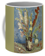 Vase With Gladioli And Chinese Asters Coffee Mug