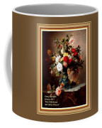Vase With Roses And Other Flowers L A With Alt. Decorative Ornate Printed Frame. Coffee Mug