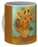 Vase With Twelve Sunflowers Coffee Mug