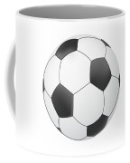 Vector Soccer Ball Isolated On White Background Coffee Mug