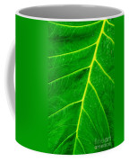 Veins Of Green Coffee Mug