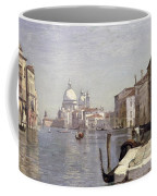 Venice - View Of Campo Della Carita Looking Towards The Dome Of The Salute Coffee Mug by Jean Baptiste Camille Corot