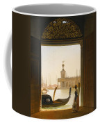 Venice A View Of The Dogana Seen Through A Large Doorway Coffee Mug