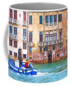 Venice Boat Under The Rain Coffee Mug