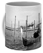Venice. Gondola. Black And White. Coffee Mug