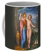 Venus And Minerva In A Landscape Coffee Mug