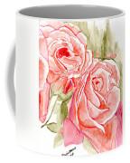 Vermilion Pink Roses Coffee Mug