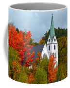 Vermont Church In Autumn Coffee Mug by Catherine Sherman