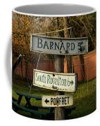 Vermont Crossroads Signs Coffee Mug