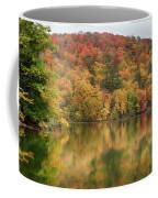 Vermont Fall Foliage Reflected On Pogue Pond Coffee Mug