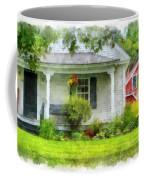 Vermont Farm House Kent Corner Watercolor Coffee Mug by Edward Fielding