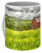 Vermont Farm Landscape Pencil Coffee Mug