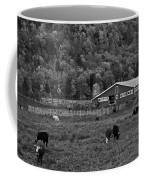 Vermont Farm With Cows Black And White Coffee Mug
