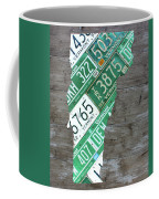 Vermont License Plate Map Art Edition 2017 Coffee Mug
