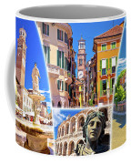 Verona Colorful Tourist Landmarks Postcard  Coffee Mug
