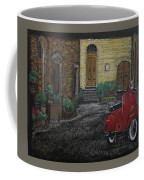 Vespa In The Rain Coffee Mug by Richard Le Page