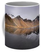 Vestrahorn Mountain In Stokksnes Iceland Coffee Mug