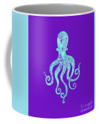 Vibrant Blue Octopus Beach House Coastal Art Coffee Mug