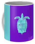 Vibrant Blue Sea Turtle Beach House Coastal Art Coffee Mug