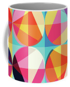 Vibrant Geometric Abstract Triangles Circles Squares Coffee Mug