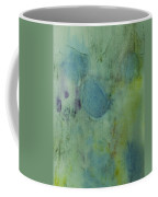 Vibrant Green Abstract Ink Design Coffee Mug