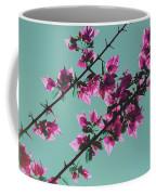 Vibrant Pink Flowers Bloom Floral Background Coffee Mug