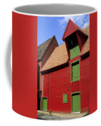 Vibrant Red And Green Building Coffee Mug