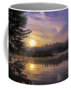 Vibrant Sunrise On The Androscoggin River Coffee Mug