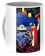 Vichy, Firework At Celebration Night Coffee Mug