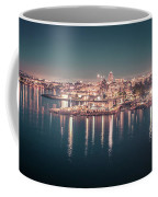 Victoria British Columbia City Lights View From Cruise Ship Coffee Mug