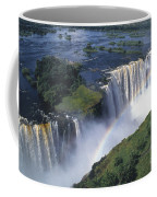 Victoria Falls Rainbow Coffee Mug by Sandra Bronstein