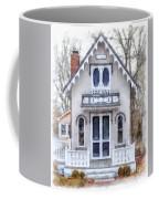 Victorian Cottage Watercolor Coffee Mug