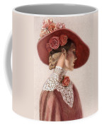 Victorian Lady In A Rose Hat Coffee Mug by Sue Halstenberg