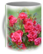 Victorian Rose Garden - Digital Painting Coffee Mug